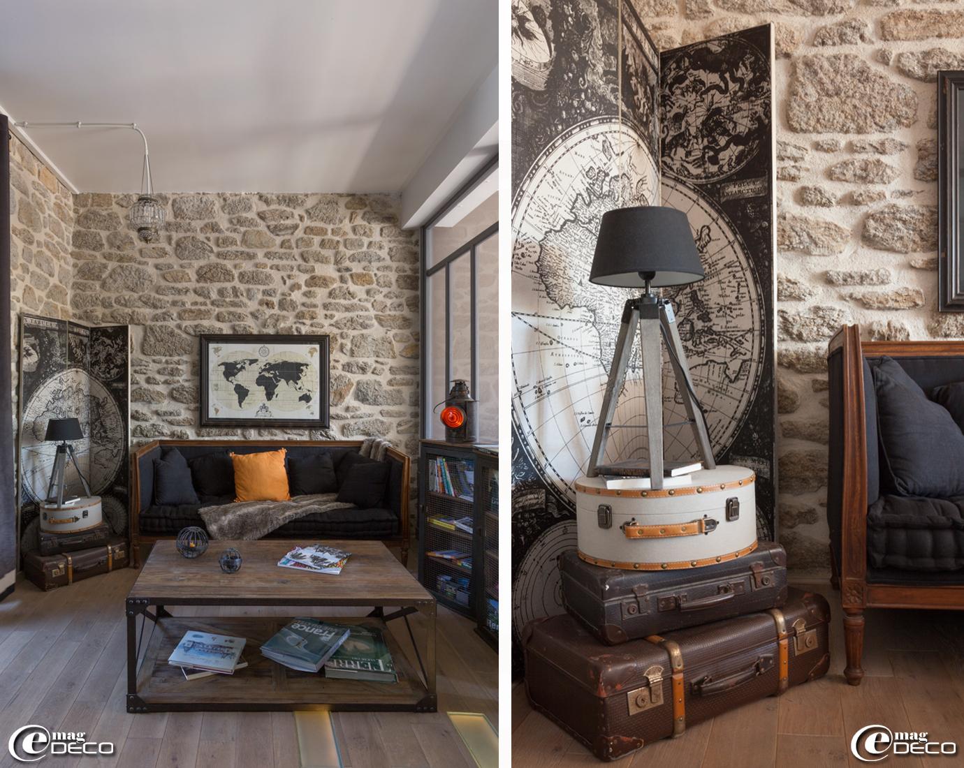 Decoration esprit atelier for Deco sejour atelier
