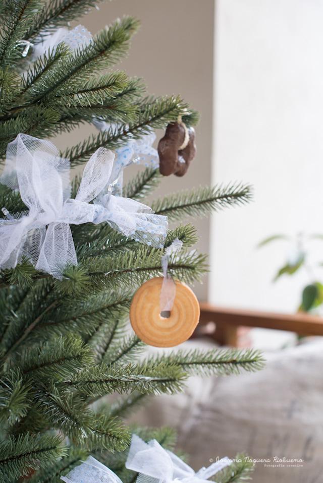 guirnalda dulce navidad tul galletas luces ideas cookies