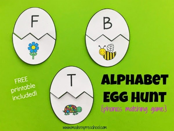 photo regarding Alphabet Games Printable known as 1st Reliable Egg Alphabet Matching Sport