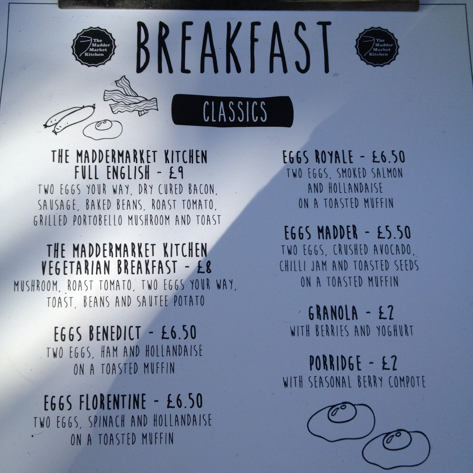 The Fry up Inspector: The Maddermarket Kitchen - Norwich