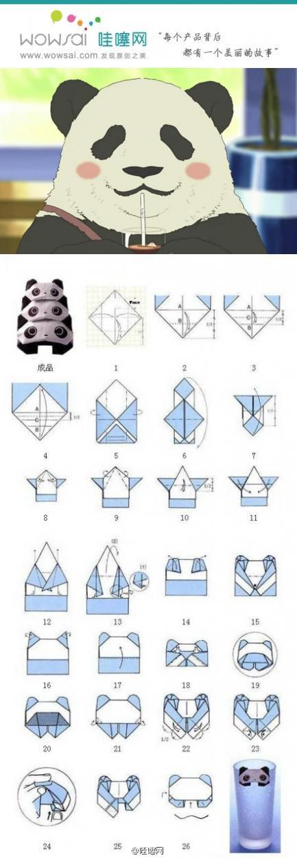 поделка из бумаги панда