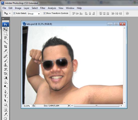 langkah1 Membuat Tattoo di Badan Dengan Photoshop CS3