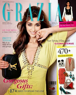 Ileana Looks Gorgeous Fashion Icon for Grazia Magazine March 2014