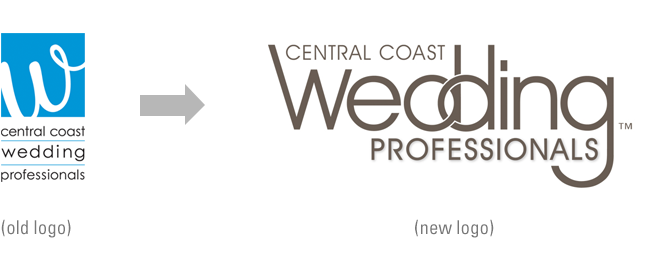 Logo Design - Central Coast Wedding Professionals logo - CCWP logo design - Studio 101 West Marketing & Design