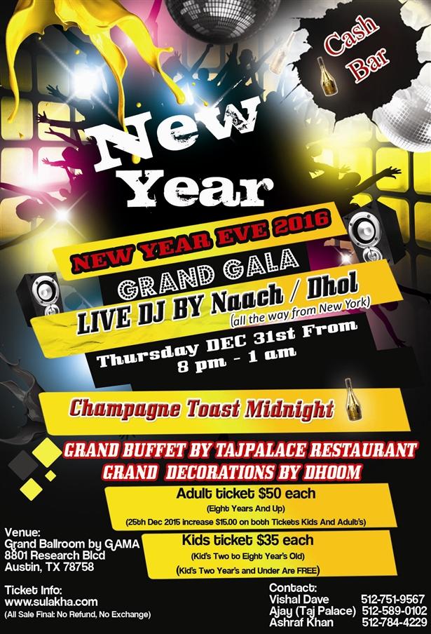 New Year Eve 2016 - Garnd Gala
