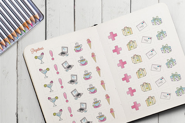 pegatinas agenda 2016 para colorear