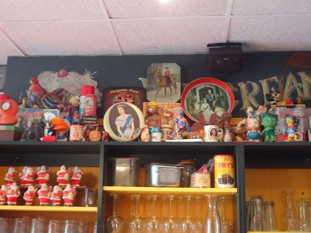 Inside Sophie's Cosmic Cafe, decorations