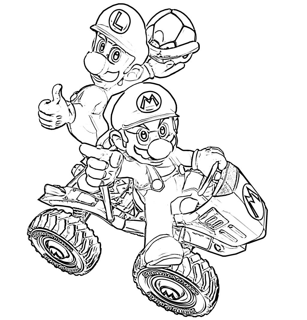 Desenhos para colorir desenhos mario bros - Coloriage mario kart 8 ...