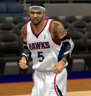 NBA 2K13 Atlanta Hawks Home Jersey Mod