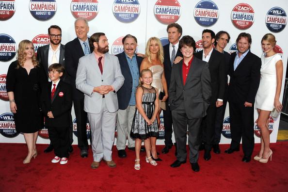 Ac  225  el talento en la premiere de The Campaign oThe Campaign Cast