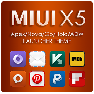 MIUI X5 HD Apex/Nova/ADW Theme Full v3.4.0 Apk