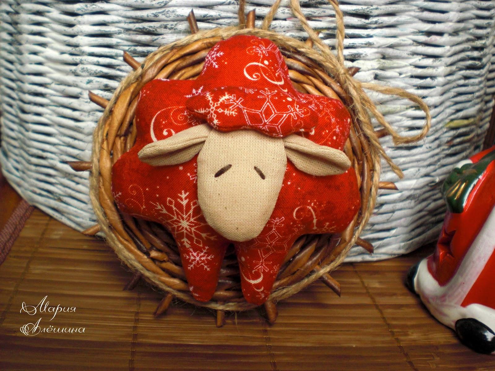 овечка, новогодняя игрушка, новогодний подарок