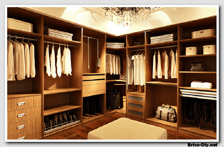 Walk in closet dise os modernos ideas para decorar y for Disenos de zapateras de madera