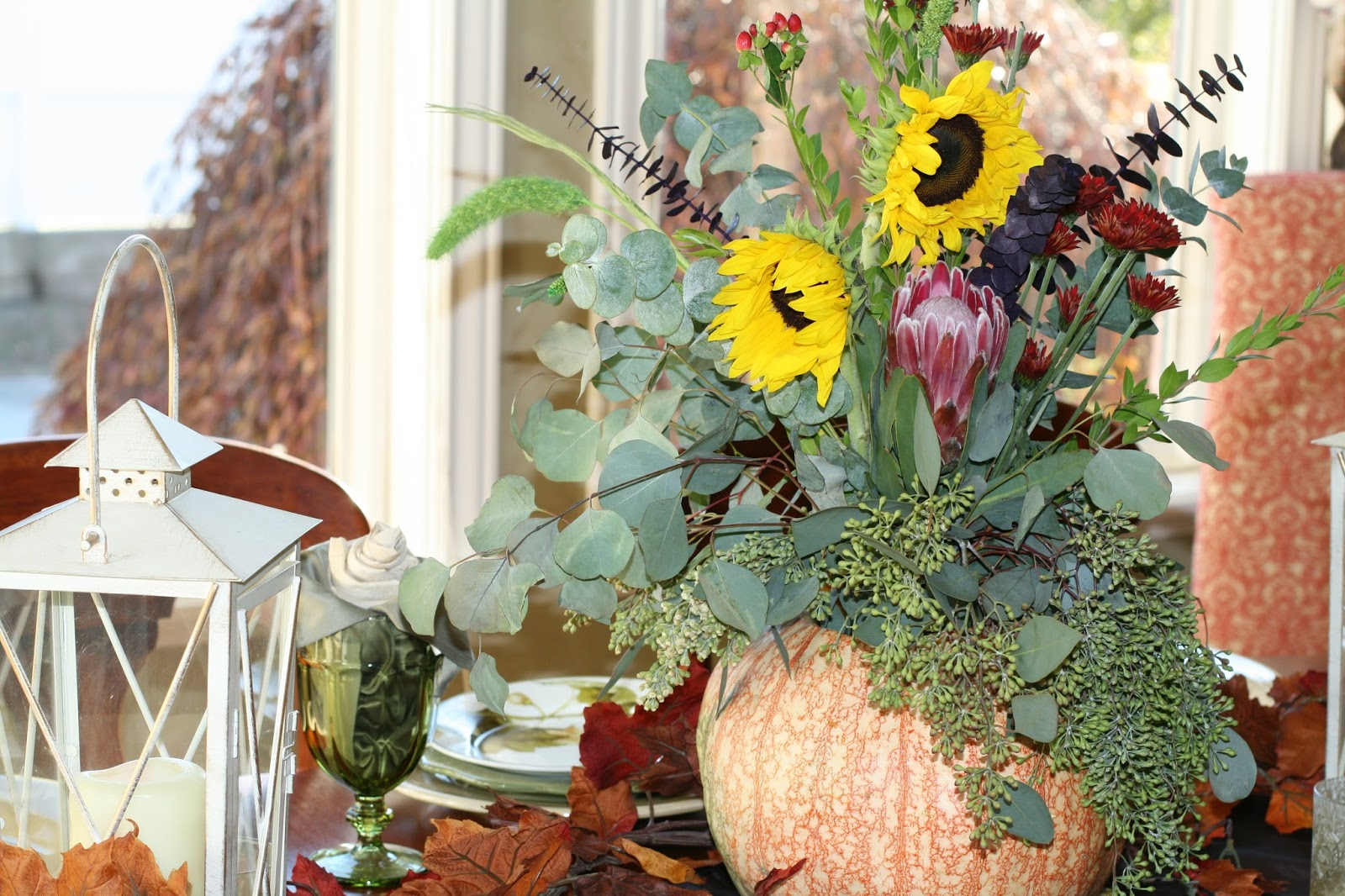 Decorated mantel easy thanksgiving day table centerpiece