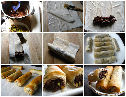 Home Cooking In Montana: Chocolate-Pistachio Phyllo Rolls...or ...