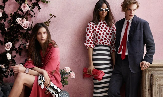 Burberry Prorsum 2014 SS Red Polka Dots Linen Shirt