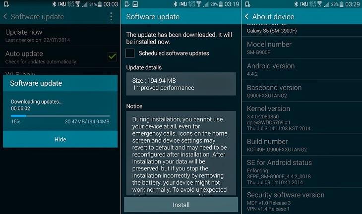 Samsung Galaxy S5 İçin Yeni Güncelleme