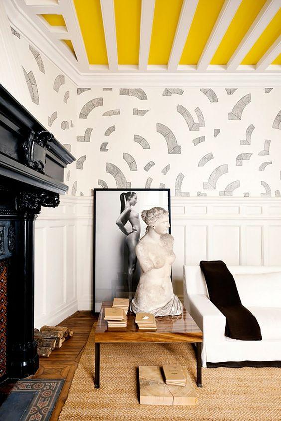 La Fabrique à Déco: Peindre le plafond : design coloré et original