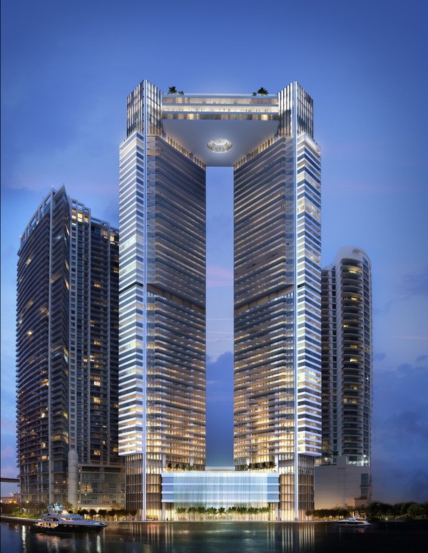 Invierta en One River Point Miami - Apartamentos de lujo en construcción.