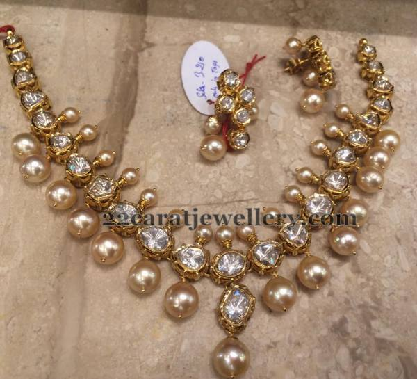 Heavy Look Polki Necklace 60 Grams