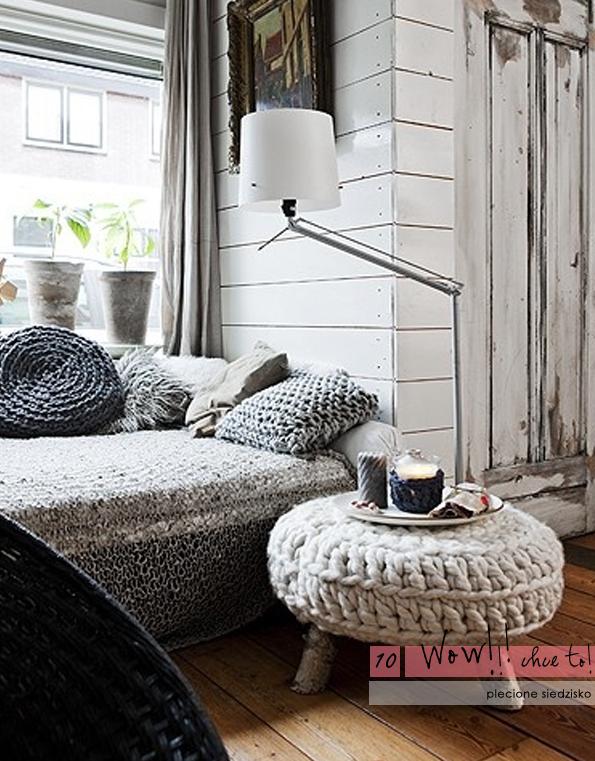 Изображение Пуфик и подушки из коллекции Вязанные вещи в интерьере на сайте Пинми.ру. картинки, фото, изображения
