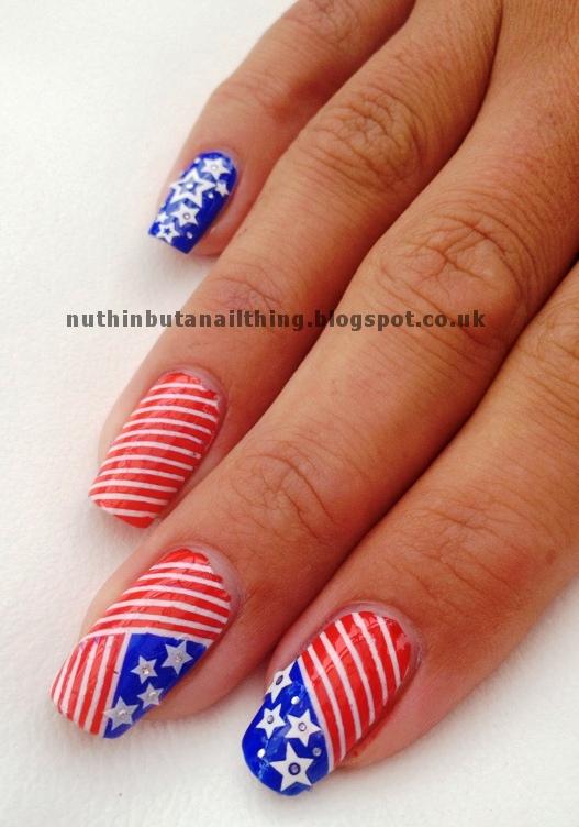 Nuthin but a nail thing september 2012 usa flag nail art prinsesfo Choice Image
