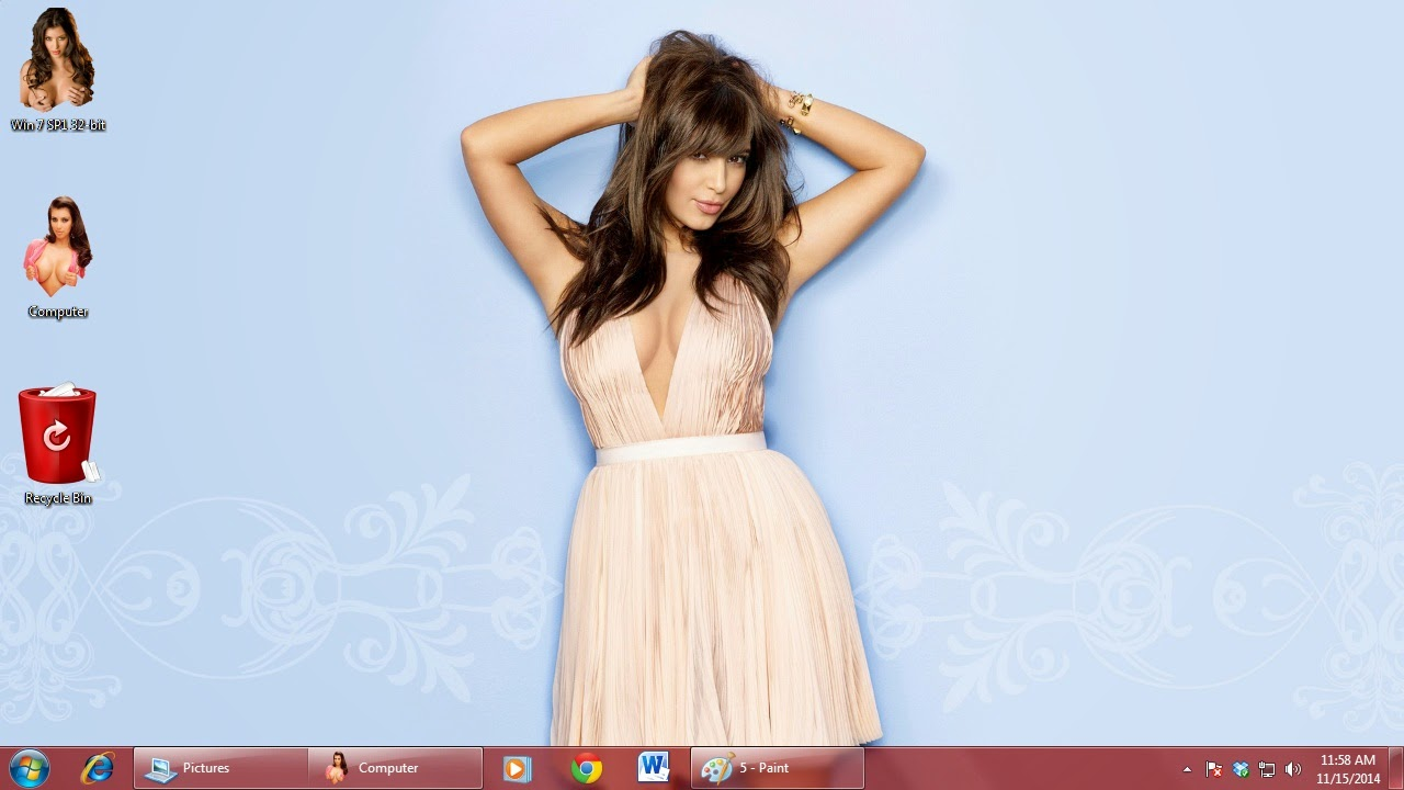 Naked Kim Kardashian Theme for Mac