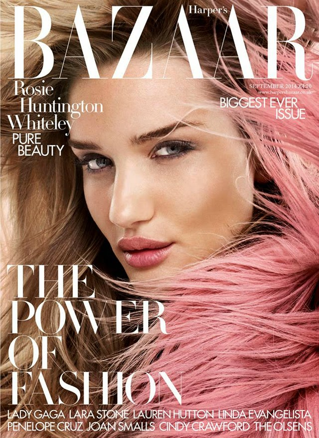 Rosie Huntington Whiteley Harper's Bazaar