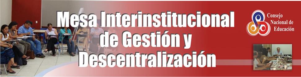 Mesa interinstitucional de gestión