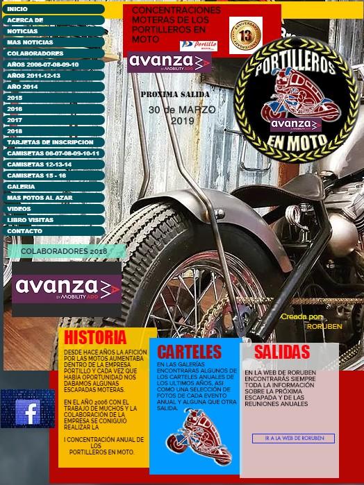 WEB OFICIAL PORTILLEROS EN MOTO
