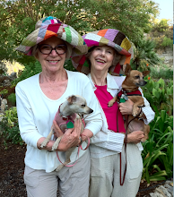 Ann and Martha sport matching hats