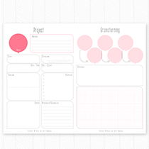 Project Brainstorming Printable for The Happier Homemaker