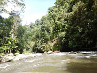 on the way rafting at ayung river