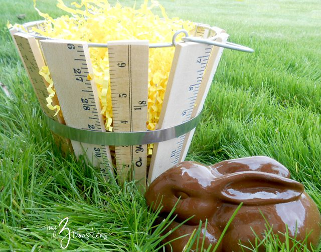 DIY yardstick Easter basket tutorial