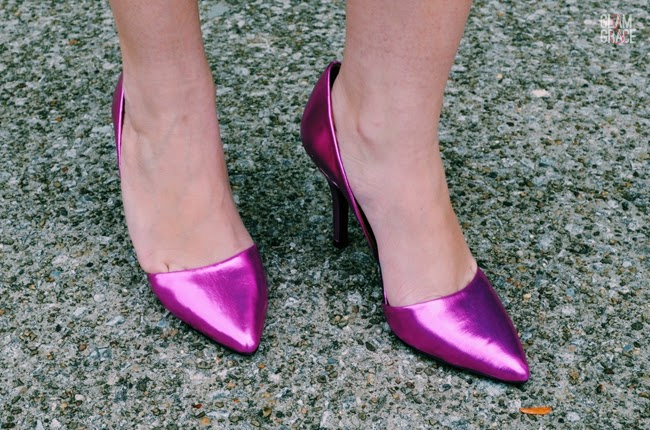 NastyGal Shoe Cult - Metallic Pink Pumps
