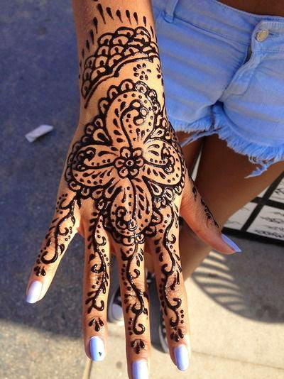 Hand Henna Tattoos