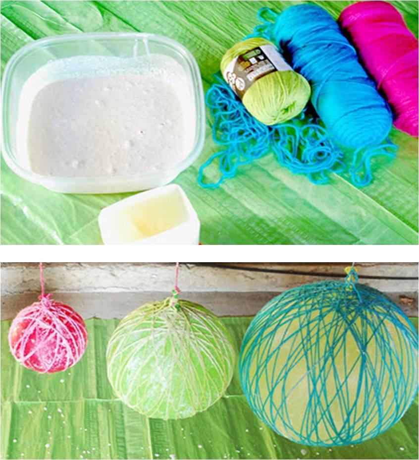 Arte color bola esfera de fique cabuya o lana - Como hacer pompones con lana ...