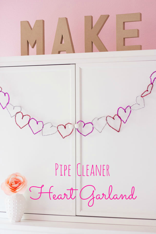 Pipe Cleaner Heart Garland Design Improvised