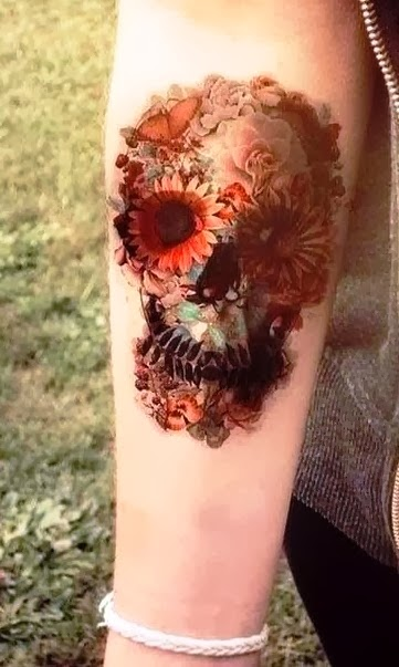 Representation life and death, amazing tattoo!