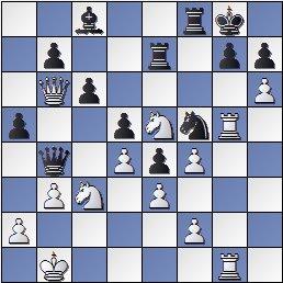 Posición de la partida de ajedrez Ulvestad, Olaf - Steiner, Herman después de 32… Db4