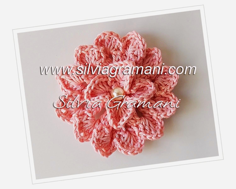 Flor de Crochê - Flor Delicada