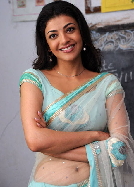 Actress Kajal Agarwal Saree Below Navel Show Photos