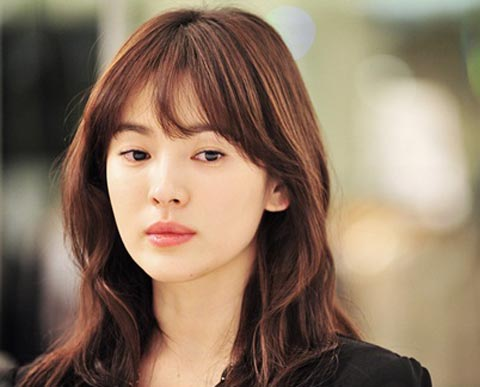 Song Hye Kyo long Hair style brown color