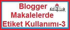 Blogger Makalelerde Etiket Kullanımı