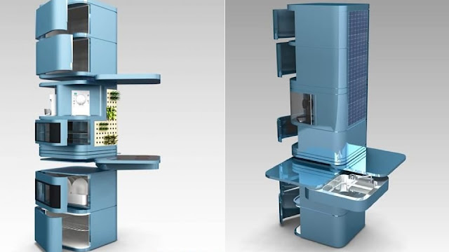 Cozinha vertical, cozinha compacta