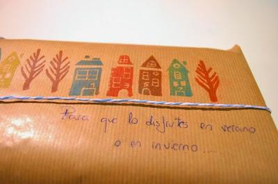 paquete sellos de casas tallados en goma de borrar