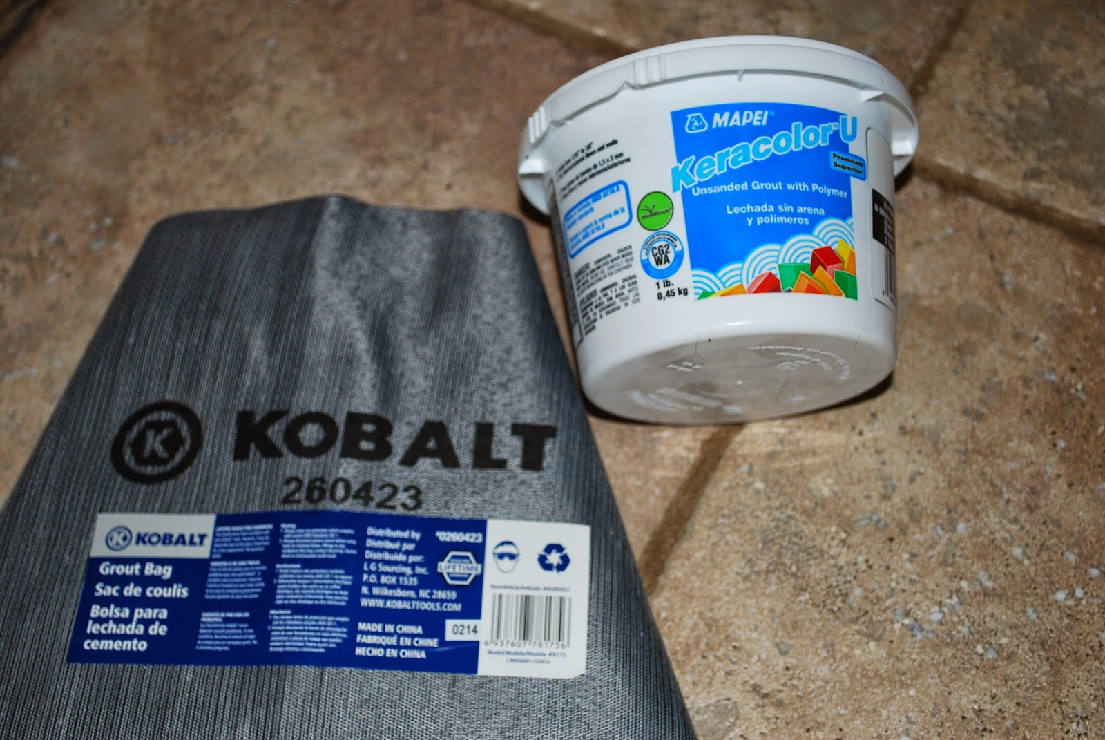 grout and grout bag