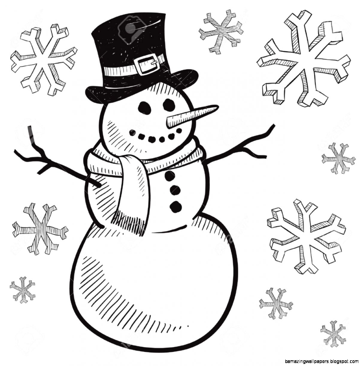 snowman clipart black and white – Clipart Free Download