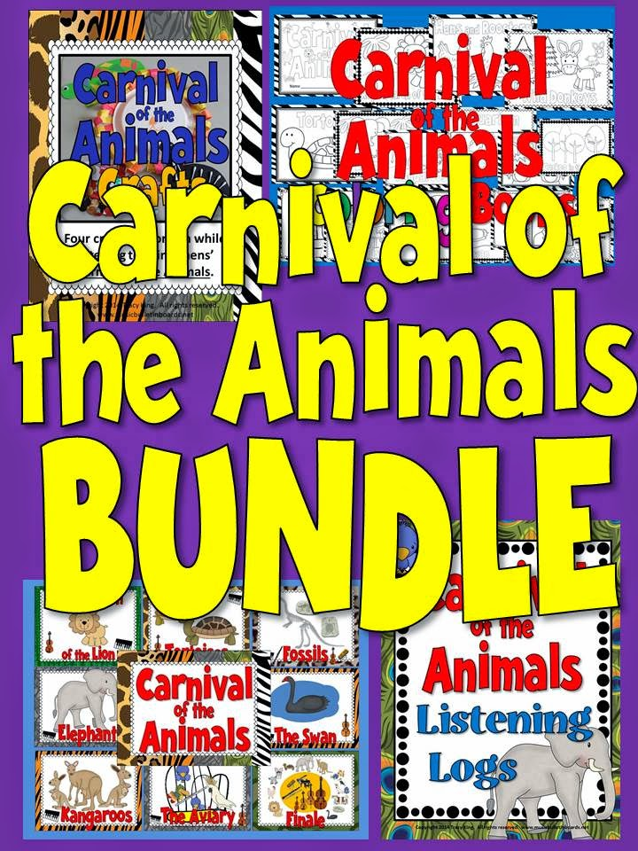http://www.teacherspayteachers.com/Product/Carnival-of-the-Animals-Activities-and-Bulletin-Board-BUNDLE-1113571