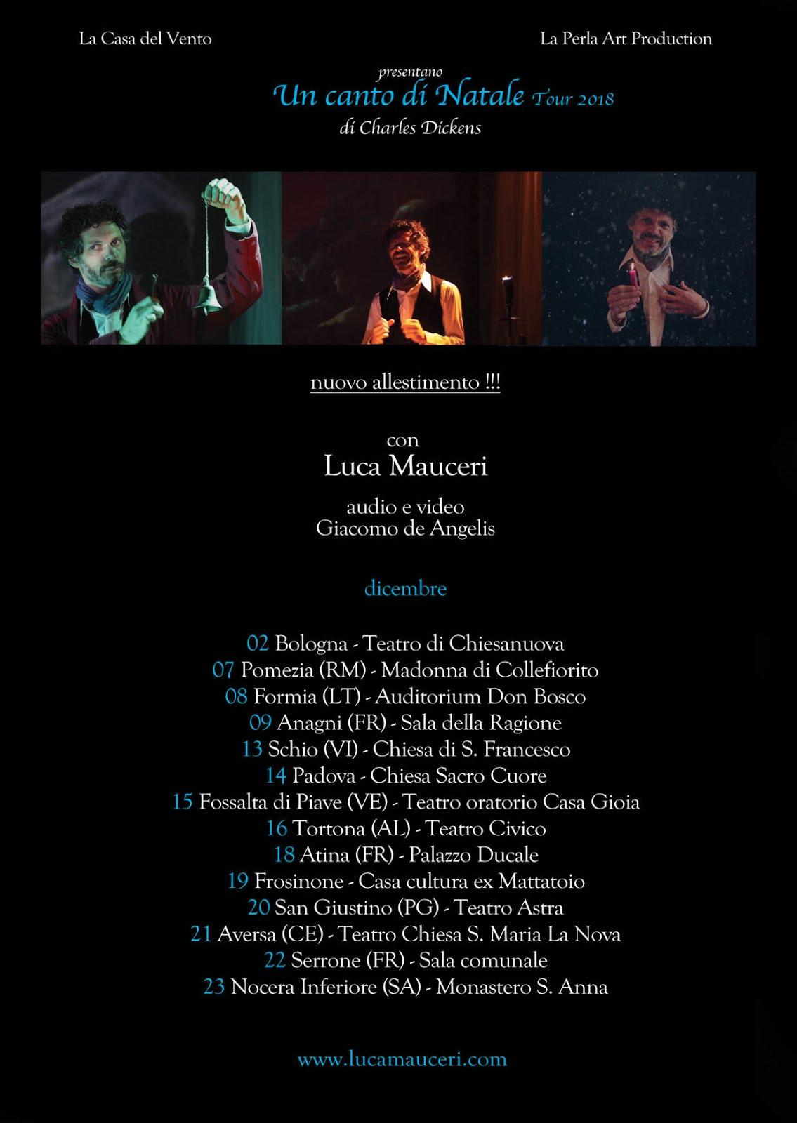 """""""UN CANTO DI NATALE"""" regia di Luca Mauceri"""